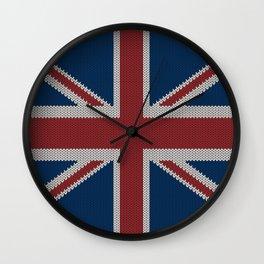 Knitted UnionJack Wall Clock