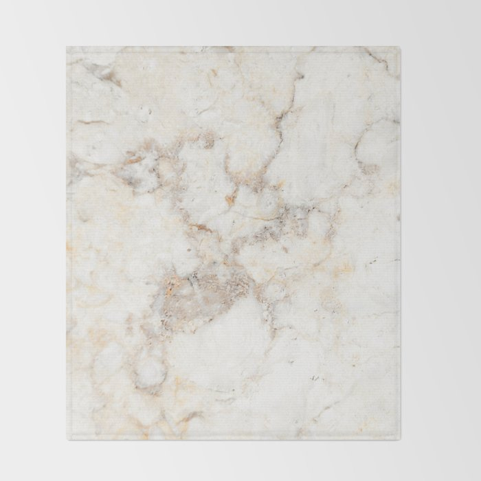 Marble Natural Stone Grey Veining Quartz Throw Blanket