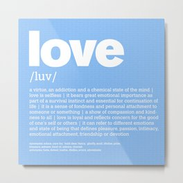 DEFINTION LLL - Love blue Metal Print