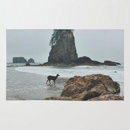 Deer on the Beach Rug