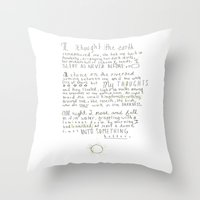 poem Throw Pillows featuring Nature Poem by alyssajeandreamer