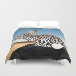 Rabbit Guepard Pattern Duvet Cover