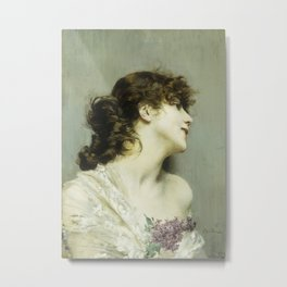 Giovanni Boldini - Profile Of A Young Woman Metal Print