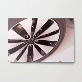 Kia Optima Wheel Metal Print