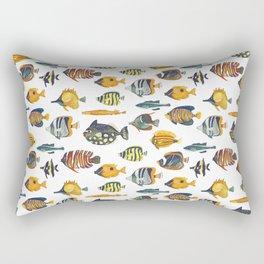 School of Tropical Fish Rectangular Pillow