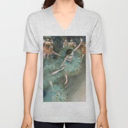 Swaying Dancer - Edgar Degas Unisex V-Neck