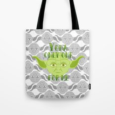 Star Wars Yoda Only One For Me Tote Bag