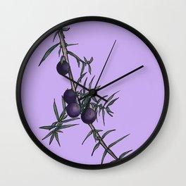 Juniper berries Wall Clock