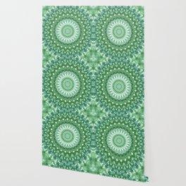 Emerald Green Mandala Wallpaper