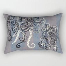 Vintage Hawaiian Tribal Tattoo Design Rectangular Pillow