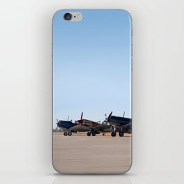 WW2 Warbirds Line-up, Sonoma County Airport, California iPhone Skin