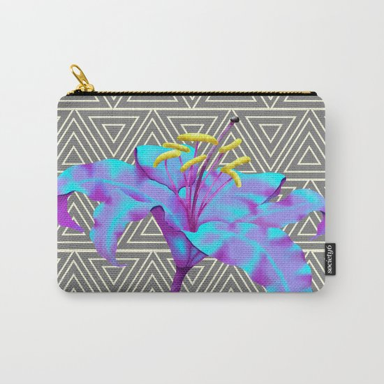 Geometric Lily Carry-All Pouch