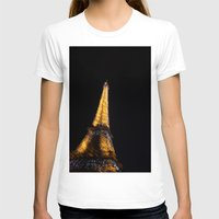 eiffel tower T-shirts featuring Eiffel Tower by Emily Werboff