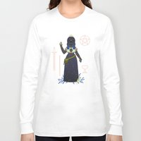 tarot Long Sleeve T-shirts featuring Witch Series: Tarot Cards by LordofMasks