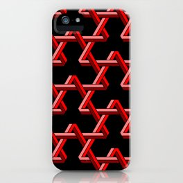 Impossible Red Triangles iPhone Case