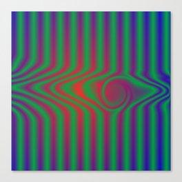 warped sripes Canvas Print
