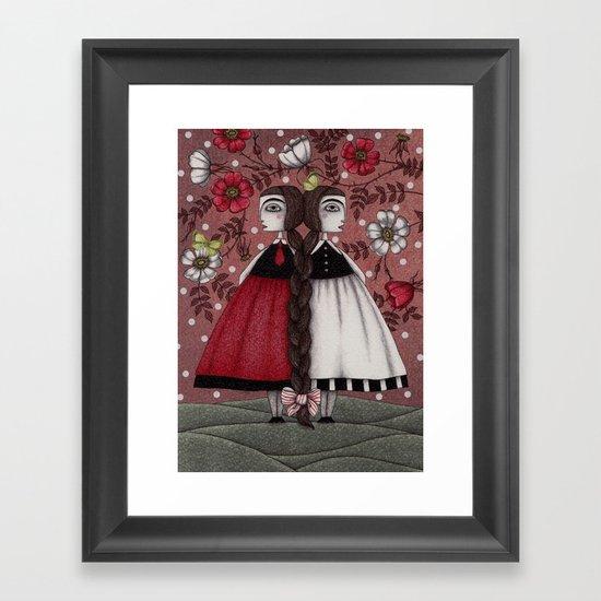 Snow-White and Rose-Red (1) Framed Art Print
