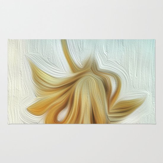 golden hair Rug