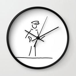 policeman uniformly police Wall Clock