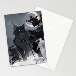 Yule Monsters Stationery Cards