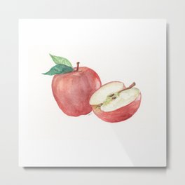 Apple and a Half Metal Print
