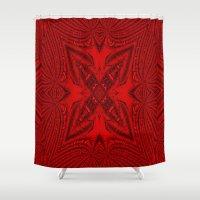 darren criss Shower Curtains featuring Criss Cross.... by Cherie DeBevoise