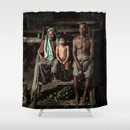 Old man 24 Shower Curtain