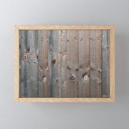 Brown Wooden Fence Framed Mini Art Print