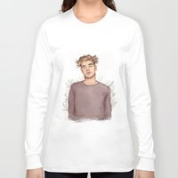 coconutwishes Long Sleeve T-shirts featuring Flower crown Liam by Coconut Wishes