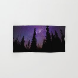 Milky Way Galaxy Over the Forest Hand & Bath Towel