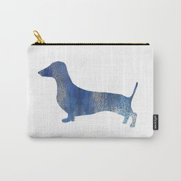 Blue Leopard  dachshund Carry-All Pouch