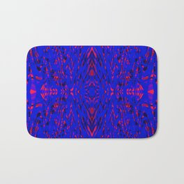 blue on red symmetry Bath Mat