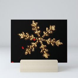 Abstract Golden Holiday Star Mini Art Print