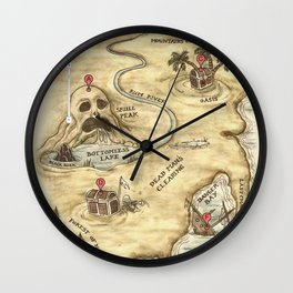 Did You Mean Treasure Island? Wall Clock