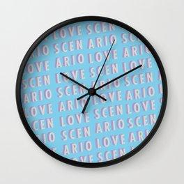 Love Scenario - Typography Wall Clock