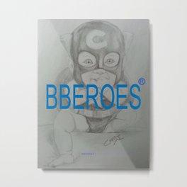 BBEROES Mr. Cap Metal Print