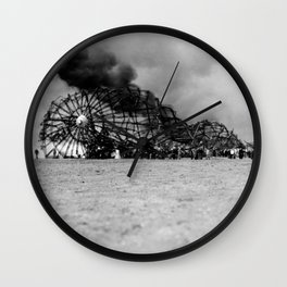 Zeppelin crash (Hindenburg) Wall Clock