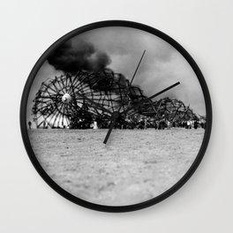 Zeppelin crash (Hindenburg) Wall Clock