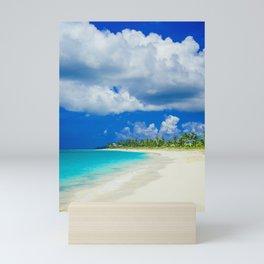 Tropical Island Sandy Beach Mini Art Print