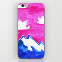 The Only Mountain Among The Flowers iPhone Skin