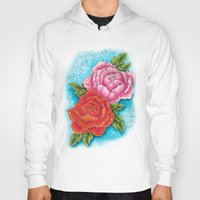 peonies Hoodies featuring peonies by missfortunetattoo