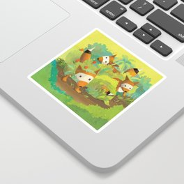 Babies in Bushes Sticker