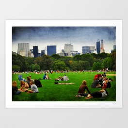 A sunday afternoon in central park Art Print