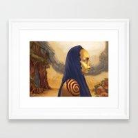 erykah badu Framed Art Prints featuring Erykah Badu  by Odera Igbokwe