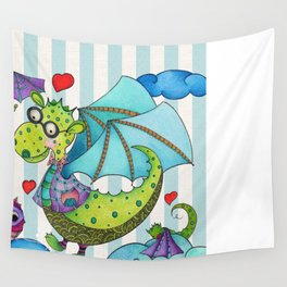 Dragon Family Wall Tapestry