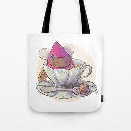 Poppette at tea time Tote Bag