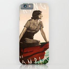 retro iconic Spring in the Grampians poster iPhone Case