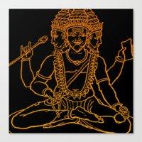hindu Canvas Prints featuring Hindu by Littlefox