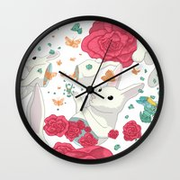 easter Wall Clocks featuring Easter by Devin McGrath