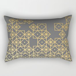 Geometric Gold Rectangular Pillow